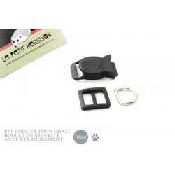 10mm Kit Collier Pour Chat / haute qualité / forme poisson/ noir