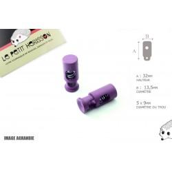 2 Arrêts de cordon / Cylindre long / Plastique / Prune