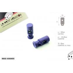 2 Arrêts de cordon / Cylindre long / Plastique / Violet