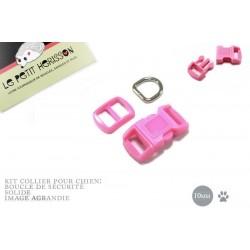 10mm Kit Collier Pour Chien / haute qualité / fuchsia