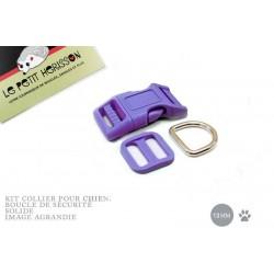 Kit Collier Pour Chien: 13mm / haute qualité / violet
