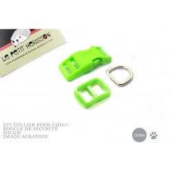 Kit Collier Pour Chien: 13mm / haute qualité / vert flou