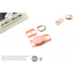 10mm Kit Collier Pour Chat / haute qualité / saumon