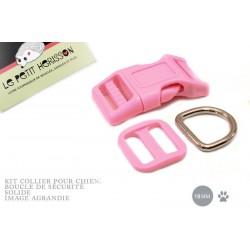 Kit Collier Pour Chien: 19mm / haute qualité / rose