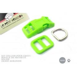 Kit Collier Pour Chien: 19mm / haute qualité / vert flou
