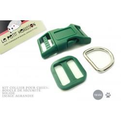 Kit Collier Pour Chien: 19mm / haute qualité / vert fonce