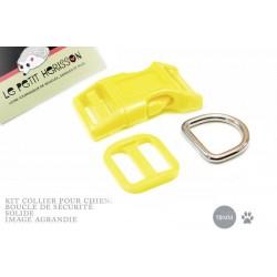 Kit Collier Pour Chien: 19mm / haute qualité / jaune