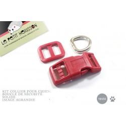 Kit Collier Pour Chien: 19mm / haute qualité / rouge