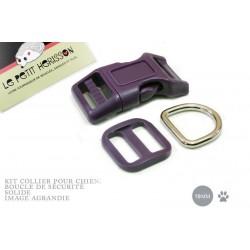 Kit Collier Pour Chien: 19mm / haute qualité / prune