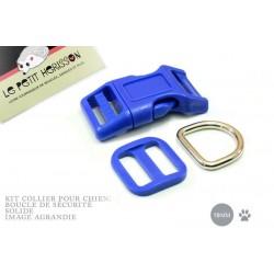Kit Collier Pour Chien: 19mm / haute qualité / bleu