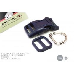 Kit Collier Pour Chien: 19mm / haute qualité / bleu marine