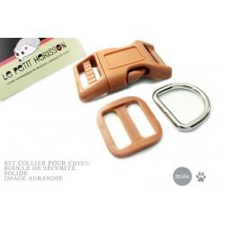 Kit Collier Pour Chien: 25mm / haute qualité / marron