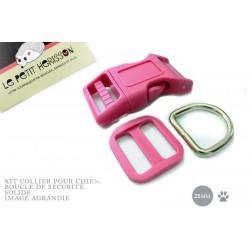 Kit Collier Pour Chien: 25mm / haute qualité / fuchsia (rose fonce)