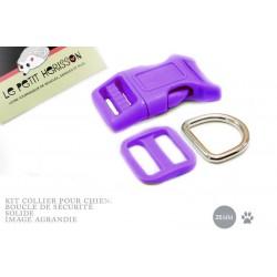 Kit Collier Pour Chien: 25mm / haute qualité / violet
