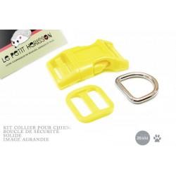 Kit Collier Pour Chien: 25mm / haute qualité / jaune