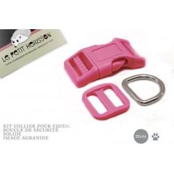 Kit Collier Pour Chien: 25mm / haute qualité / mauve(rose fonce)