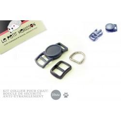10mm Kit Collier Pour Chat / haute qualité / bleu marine