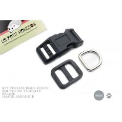 Kit Collier Pour Chien: 16mm / haute qualité / noir