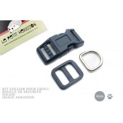 Kit Collier Pour Chien: 16mm / haute qualité / bleu marine