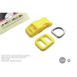 Kit Collier Pour Chien: 16mm / haute qualité / jaune