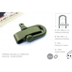 Manille Droite/ Metal / Forme U / Réglable / Vert