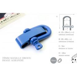 Manille Droite/ Metal / Forme U / Réglable / Bleu
