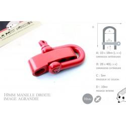 Manille Droite/ Metal / Forme U / Réglable / Rouge