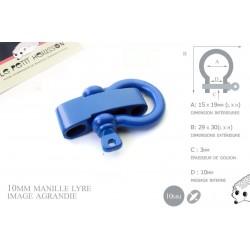 Manille Lyre / Metal / Forme C / Réglable / Bleu