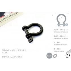 Manille Lyre / Metal / Forme C / Noir