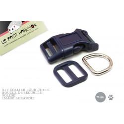 Kit Collier Pour Chien: 25mm / haute qualité / bleu marine