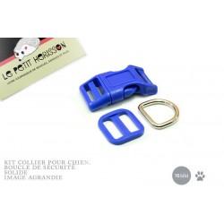 Kit Collier Pour Chien: 16mm / haute qualité / bleu