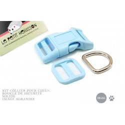 Kit Collier Pour Chien: 25mm / haute qualité / bleu clair