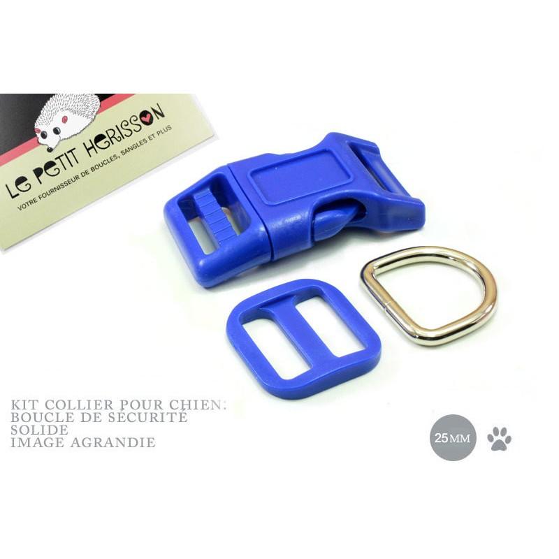 Kit Collier Pour Chien: 25mm / haute qualité / bleu