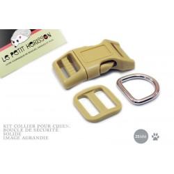 Kit Collier Pour Chien: 25mm / haute qualité / beige
