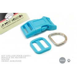 Kit Collier Pour Chien: 25mm / haute qualité / turquoise