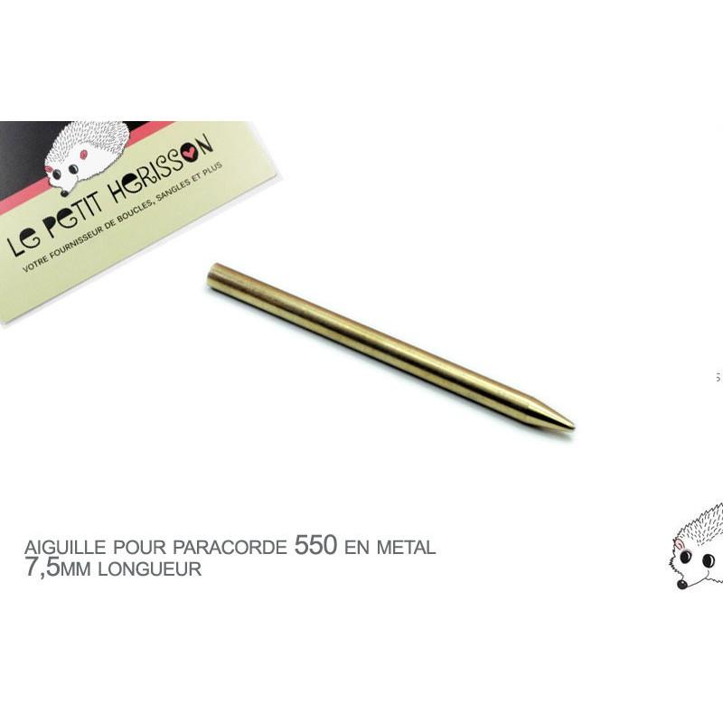 1 x 7,5mm Aiguille pour paracorde 550 / Metal / Couleur Laiton