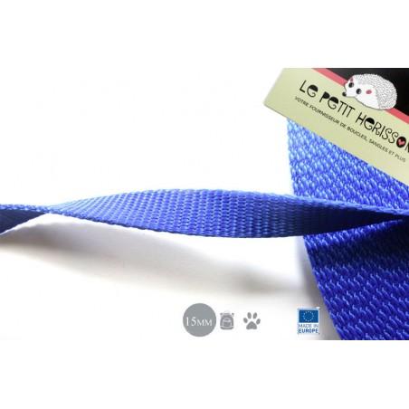 1m x 15mm Sangle / Polypropylène / Epais / Fabriqué dans l'ue / bleu