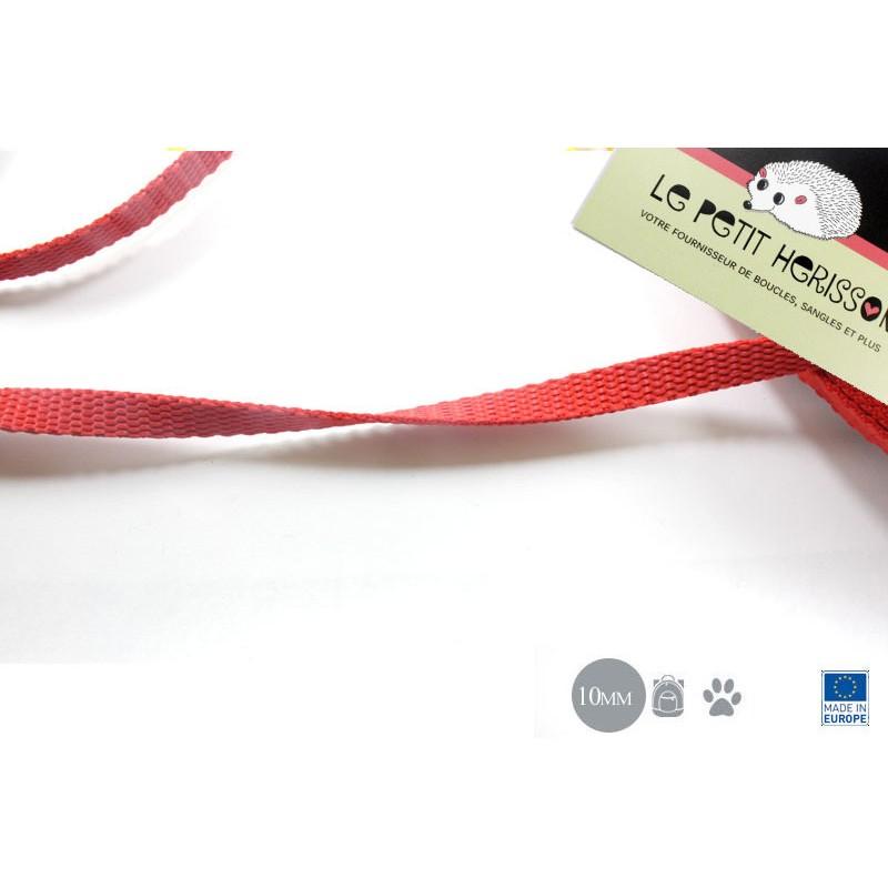 1m x 10mm Sangle / Polypropylène / Epais / Fabriqué dans l'ue / rouge