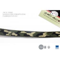 1m x 15mm Sangle / Polypropylène / Epais / Fabriqué dans l'ue / camouflage