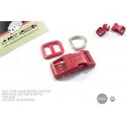 Kit Collier Pour Chien: 16mm / haute qualité / rouge
