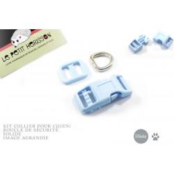 Kit Collier Pour Chien: 16mm / haute qualité / bleu clair