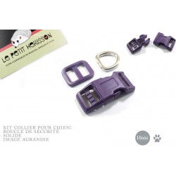Kit Collier Pour Chien: 16mm / haute qualité / prune