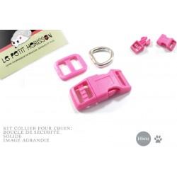 Kit Collier Pour Chien: 16mm / haute qualité / fuchsia
