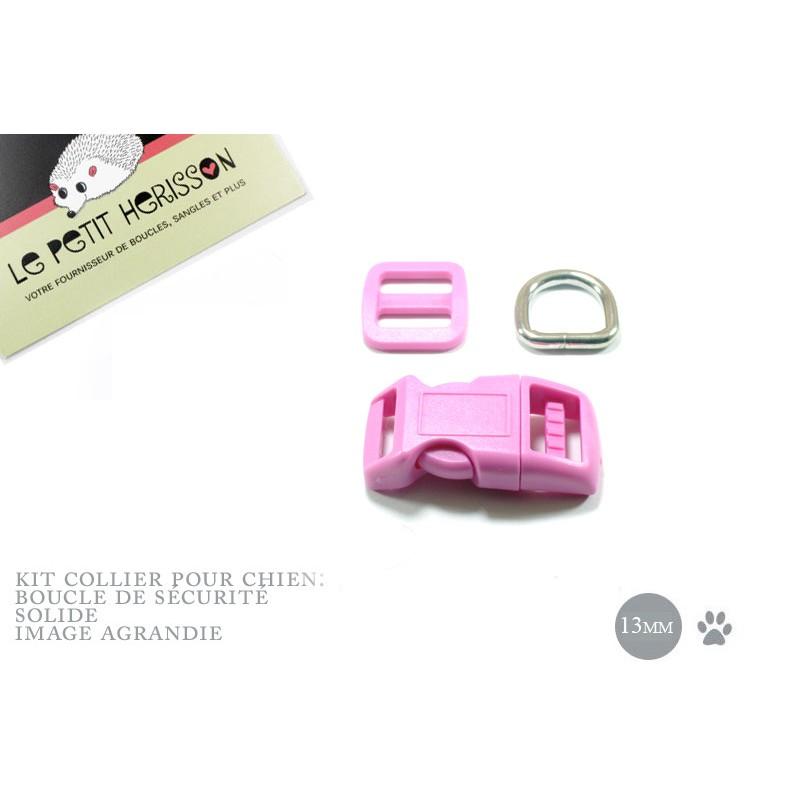 Kit Collier Pour Chien: 13mm / haute qualité / rose (mauve)