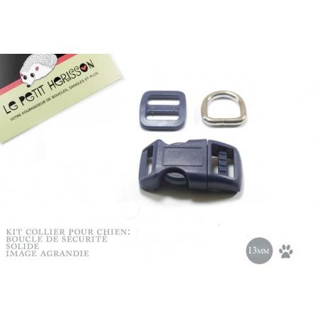 Kit Collier Pour Chien: 13mm / haute qualité / bleu marine