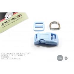 Kit Collier Pour Chien: 13mm / haute qualité / bleu clair