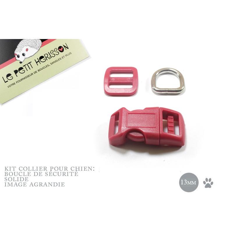 Kit Collier Pour Chien: 13mm / haute qualité / rouge