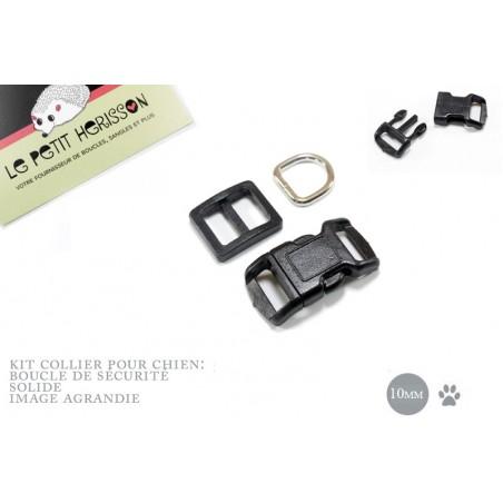 10mm Kit Collier Pour Chien / haute qualité / noir
