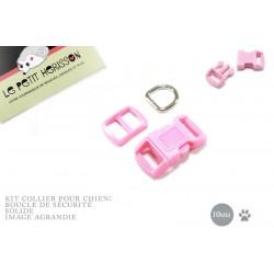 10mm Kit Collier Pour Chien / haute qualité / rose