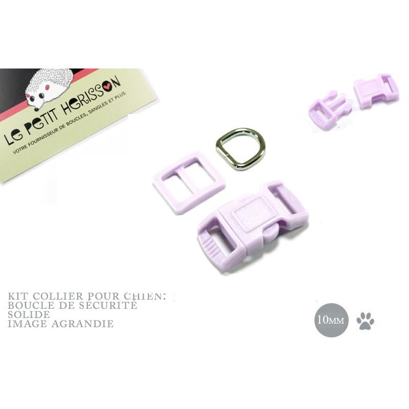10mm Kit Collier Pour Chien /haute qualité /  violet clair